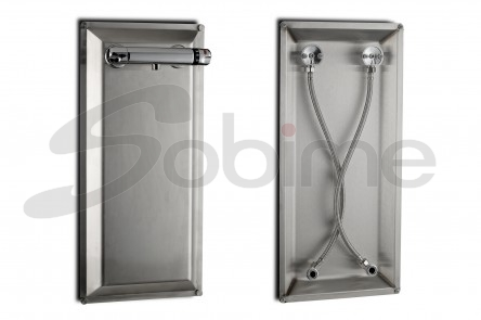 IDROMIX SET OF THERMOSTATIC SHOWER WITH STAINLESS STEEL PLATE
