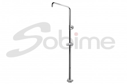 EXTENSIBLE METAL SHOWER COLUMN DOUBLE CONNECTION
